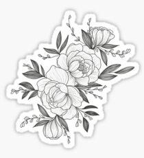 floral sketch Glossy Sticker