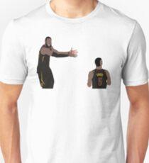 LeBron James looking at JR Smith Unisex T-Shirt