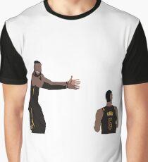 LeBron James looking at JR Smith Graphic T-Shirt