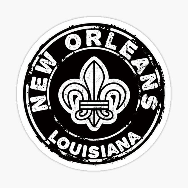 New Orleans Louisiana Mardi Gras Fleur De Lis Sticker