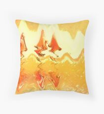 Firestorm Abstract  Throw Pillow