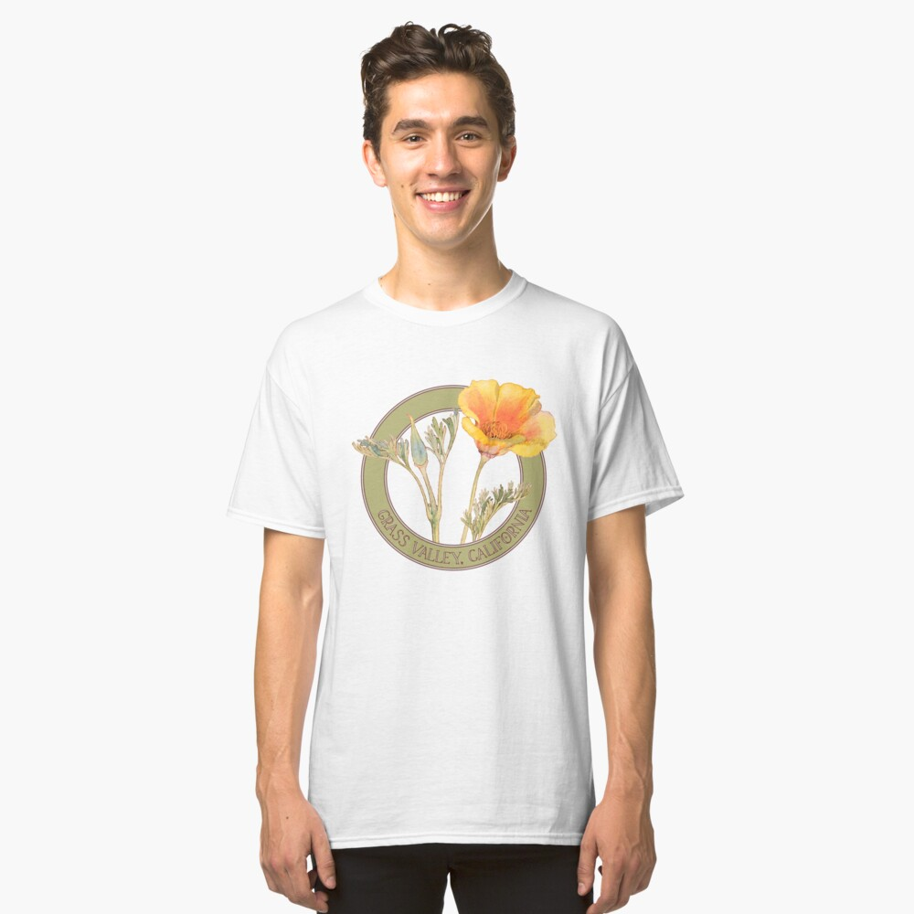 Grass Valley Poppy Classic T-Shirt