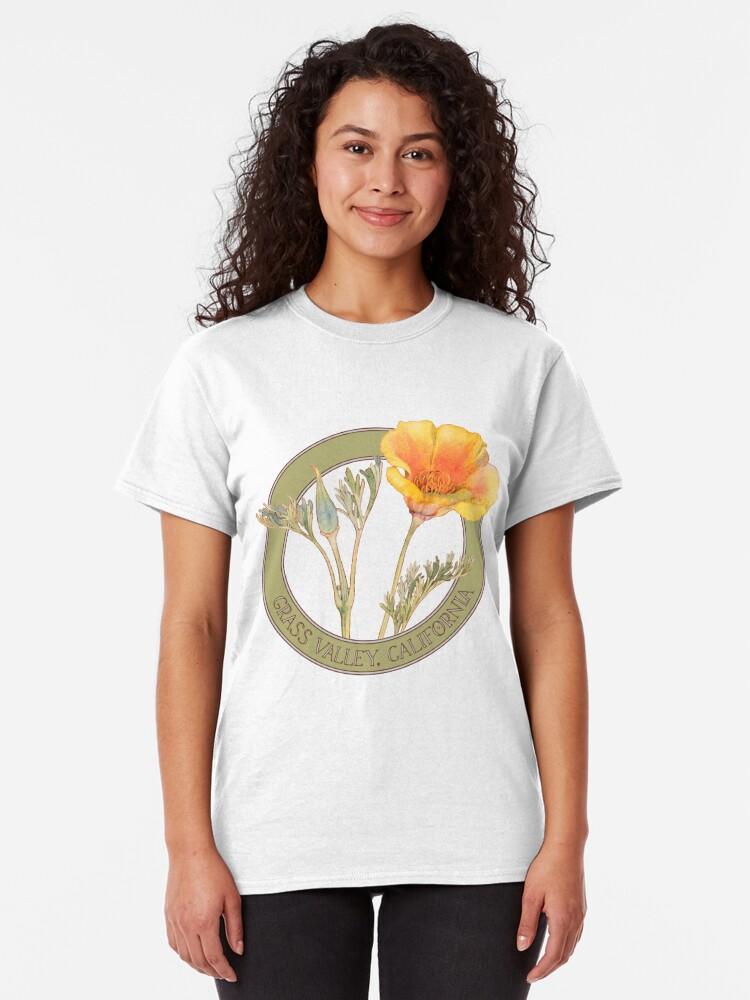 Alternate view of Grass Valley Poppy Classic T-Shirt