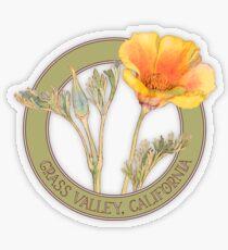 Grass Valley Poppy Transparent Sticker