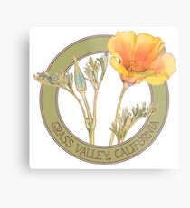 Grass Valley Poppy Metal Print