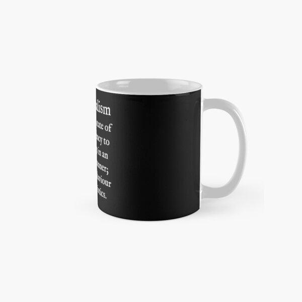 E:Emotionalism:White Text:WearYourWords:English Classic Mug