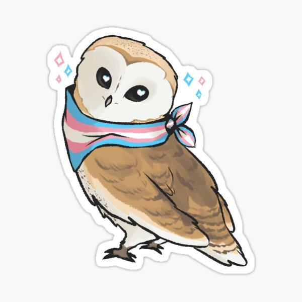Transgender Pride Owl Sticker
