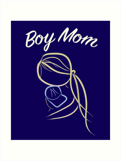 Boy Mom - Heartwarming Mother Son Hug by Mayhill