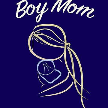 Boy Mom - Heartwarming Mother Son Hug by Mayhill