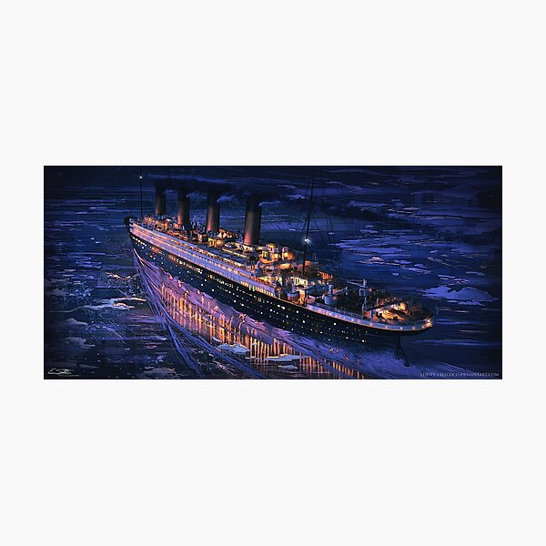 The Maiden Voyage - Titanic Painting | Art by Eliott Cha'coco Photographic Print