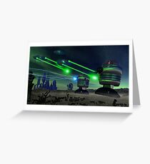 Alien Attack 1 Greeting Card