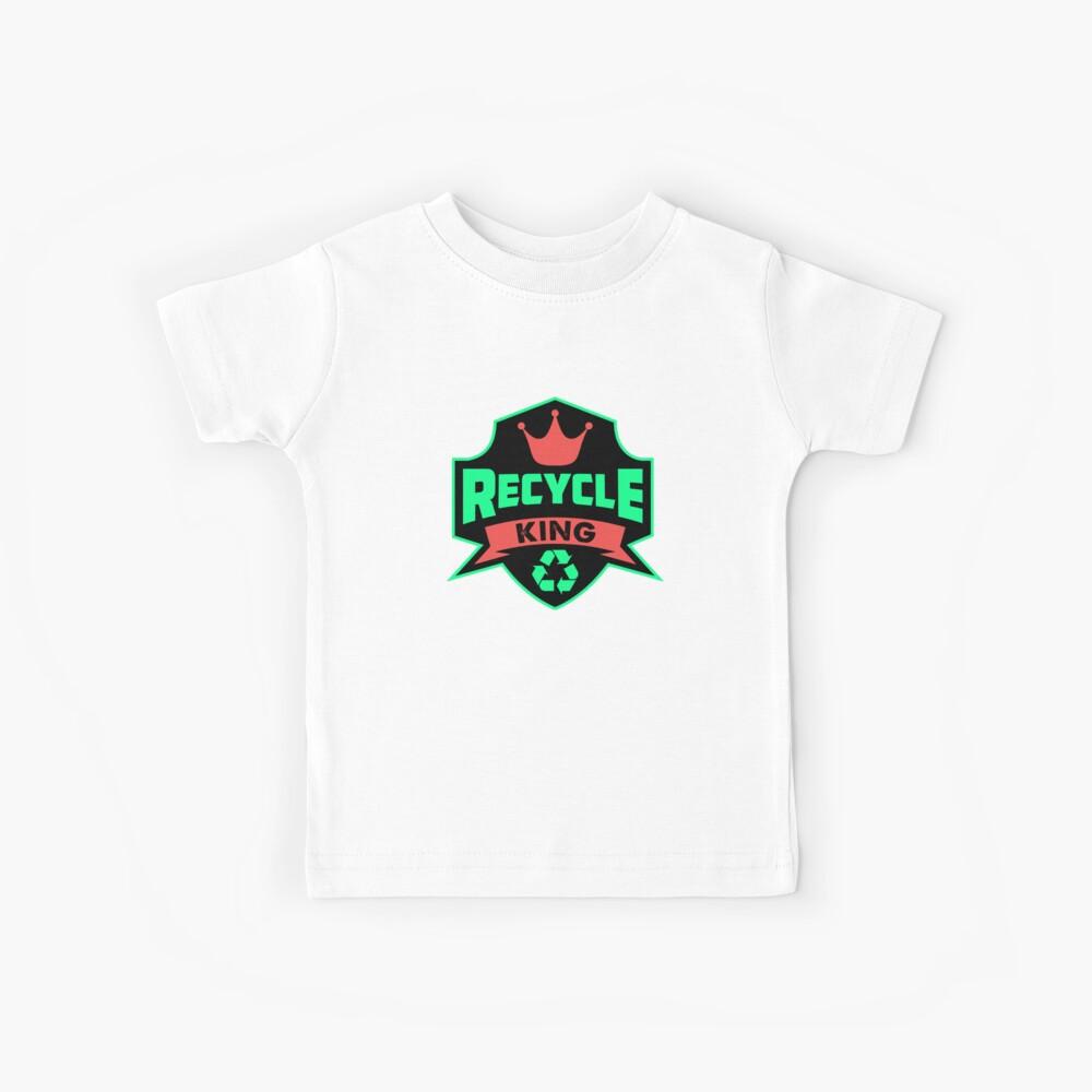 Recyceln Sie King Recycling Go Green Umweltverschwendung Tag der Erde Kinder T-Shirt
