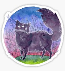 Magical Three-eyed Cat Sticker