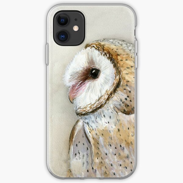Barn Owl Watercolor iPhone Soft Case