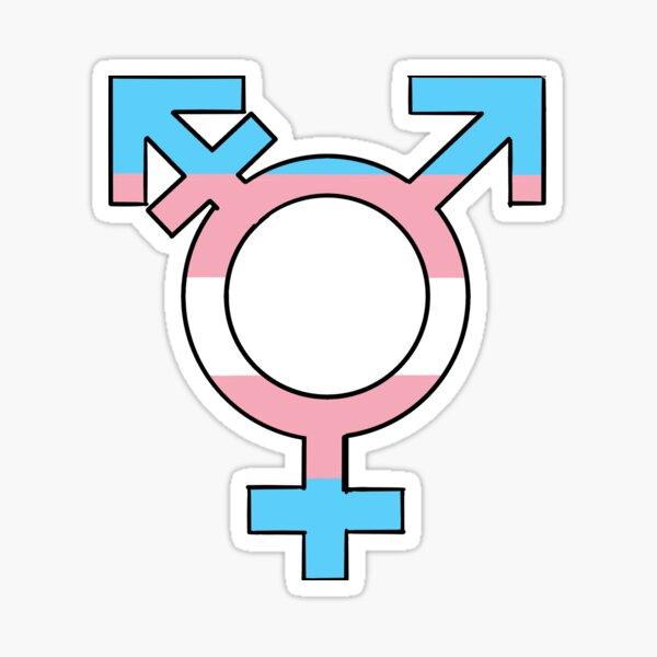 Símbolo del orgullo trans Pegatina