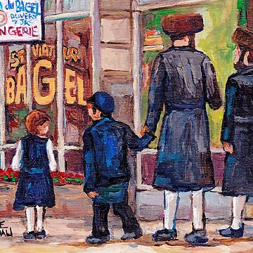 JEWISH NEIGHBORHOODS SATMAR RABBIS SHABBOS STROLL RELIGIOUS ART JUDAICA STREET SCENES by CaroleSpandau