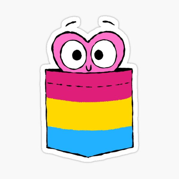 In a Heartbeat - Pansexual Flag Pocket Sticker