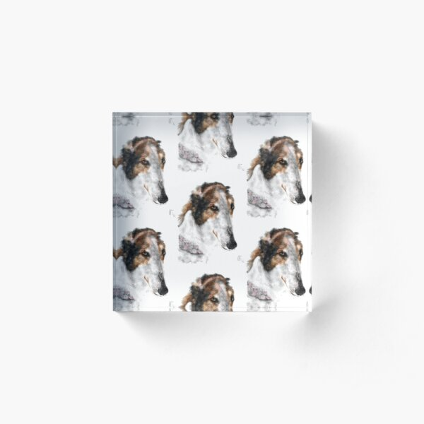 Beautiful Borzoi Russian Wolfhound  Acrylic Block