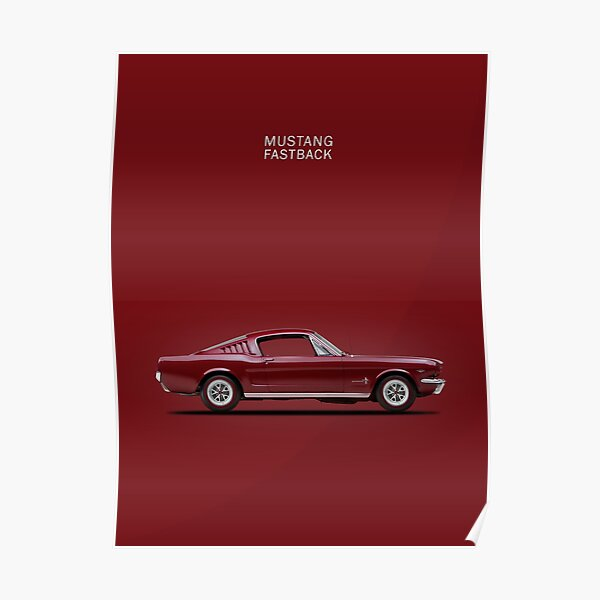 Mustang Fastback Poster