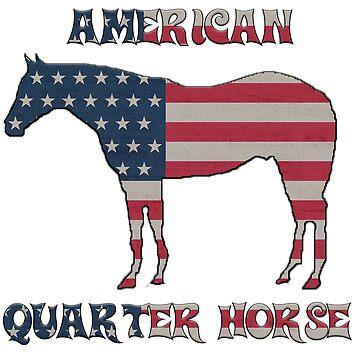 Quarter Horse with American Flag by PragmaticFalcon