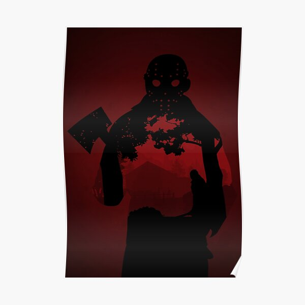 Friday the 13th - silhouette Poster