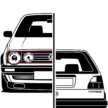 Golf Mk2 GTI Best Shirt Design by CarWorld