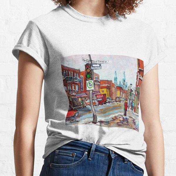 ROSEMONT LA PETITE PATRIE MONTREAL NEIGHBORHOOD MAJOR COMMERCIAL STREET RUE BEAUBIEN  Classic T-Shirt