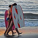 Beach shields--Ocean Beach California by milton ginos