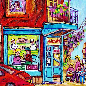 MONTREAL ART STREET SCENE PAINTING OF CANADIAN ART C SPANDAU DINNER FOR TWO QUEBEC ART by CaroleSpandau