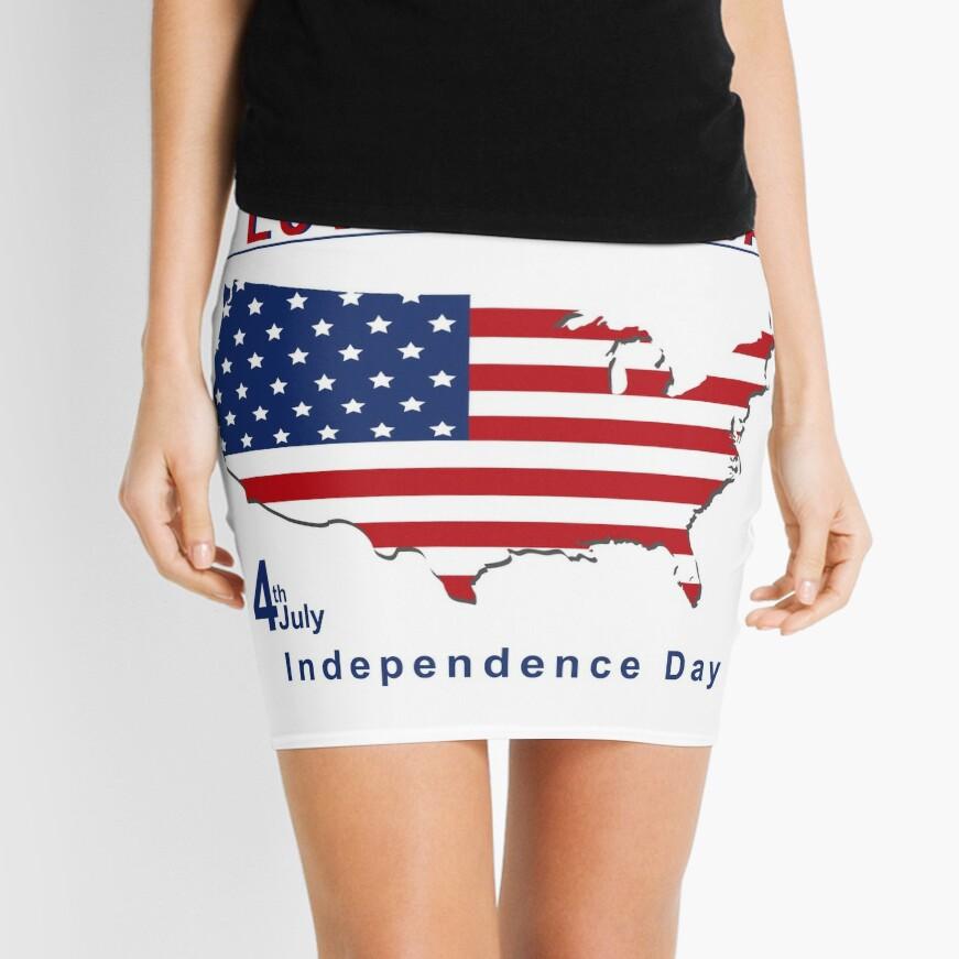 amerikanischer Unabhängigkeitstag Minirock