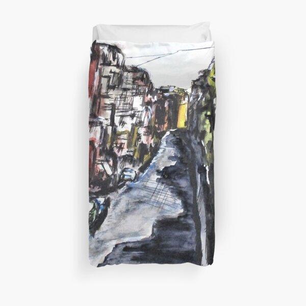 Naples City Street Duvet Cover