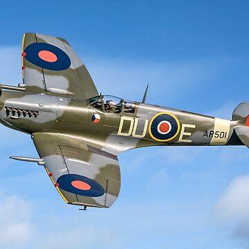 Spitfire LF.Vc AR501/DU-E G-AWII by oscar533