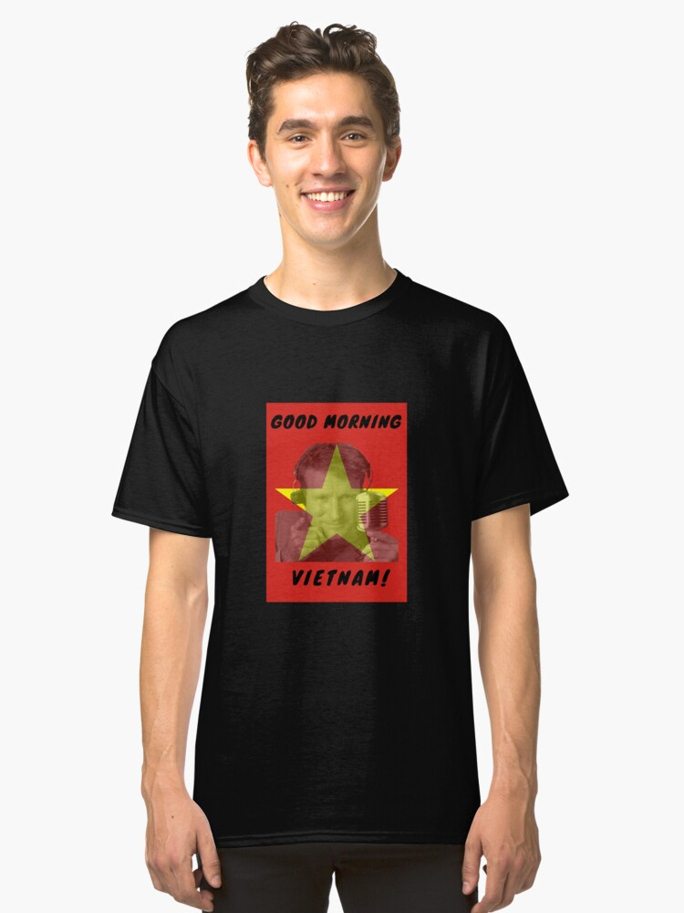 Robin Williams Good Morning Vietnam Classic T-Shirt Front