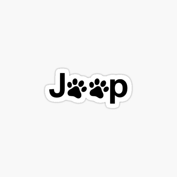 jeep dog paws Sticker