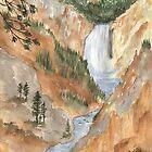 Yellowstone Falls, Yellowstone NP by Diane Hall
