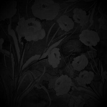 Elegant black and gray flower by Belghazi