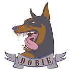 Doberman Pinscher Head & Banner by crcrudy