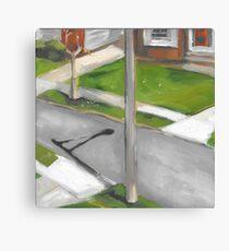 street from my window  Canvas Print