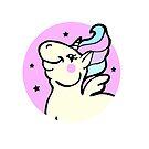 Fun Pink Unicorn by Ash Evans