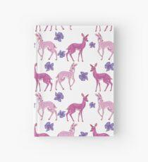 Pink Deer Pattern Hardcover Journal