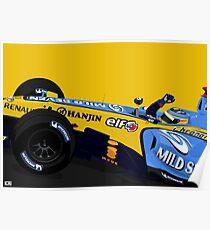 Alonso gewinnt mit seinem R26 Poster