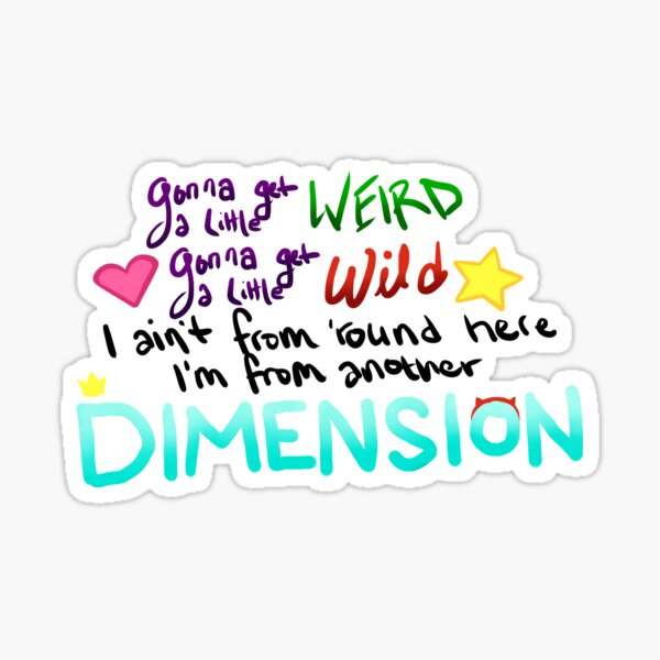 Star vs. the Forces of Evil Theme Quote Sticker