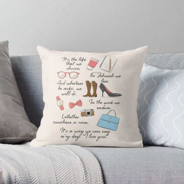 The Life of a Pioneer (For Her) Throw Pillow