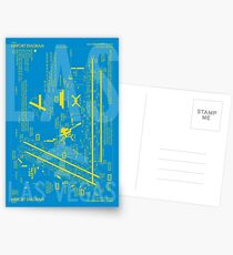 LAS Las Vegas Airport Diagram | Aviation Art Gift for Airport Buff, Frequent Flyer, Travel Fanatic Postcards