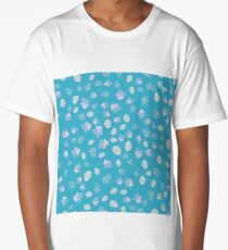 Sea life with shell, coral, jellyfish, bubble Long T-Shirt