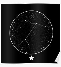 Canis Major Constellation Night Sky Poster