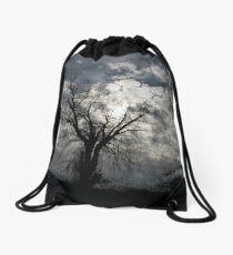 Silhouette of Winter Drawstring Bag
