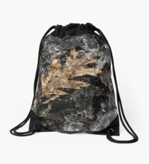 Icy Leaf Drawstring Bag