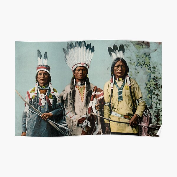 1900 Apache Indian Warriors Poster