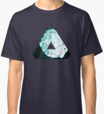Abstract Geometry: Ocean Crystal (Ice Blue) Classic T-Shirt
